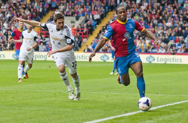Cameron Jerome against Swansea at Selhurst Park earlier this season.