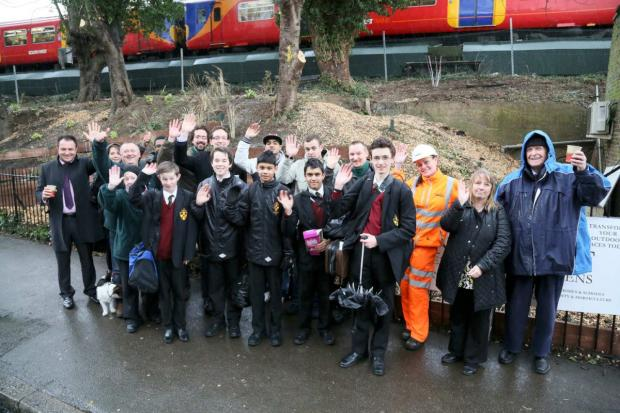 Wimbledon Guardian: Team of volunteers outside revived land
