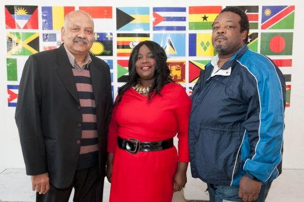 L-R: Christopher Williams, Verona Henry, Councillor Logie Lohendran