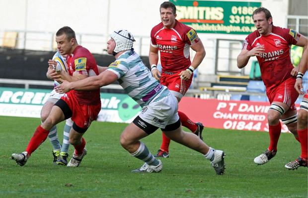 Back in red: Scrum half Tyson Keats is back at London Welsh