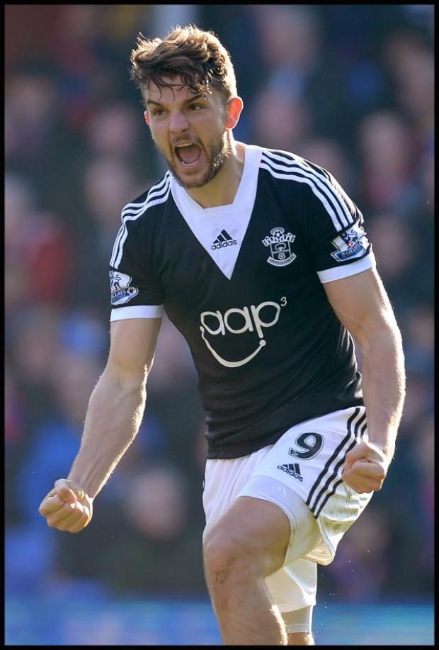 Wimbledon Guardian: Jay Rodriguez celebrates scoring the winner. Picture: Southern Daily Echo