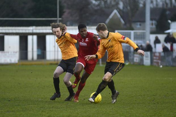 Highlight: Paris Hamilton-Downes bagged his first senior goal in Carshalton Athletic's 4-2 home defeat to Wealdstone