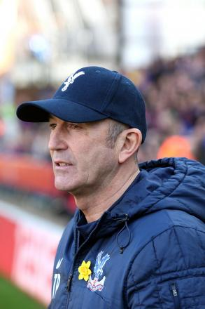 Frustrated: Tony Pulis watches his Palace side lose 1-0 at home to Southampton