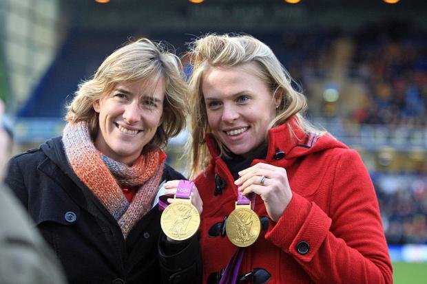 Golden girls: London 2012 Olympic champions Katherine Grainger and Anna Watkins were among the stars on the river on Saturday