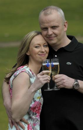 Neil Trotter who won the £108m Euromillions jackpot, with his partner of eight years Nicky Ottaway