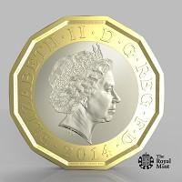 One side of a new one-pound coin unveiled by the Government, which officials said will be the most secure coin in circulation in the world (PA/HM Treasury)