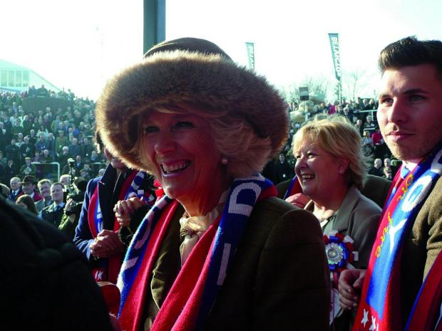 Wimbledon Guardian: The Duchess of Cornwall was given one of the Sire De Grugy scarves