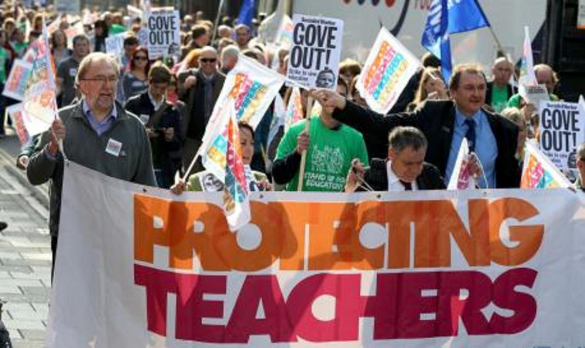Teachers have previously gone on strike against proposed changes to pay and pensions