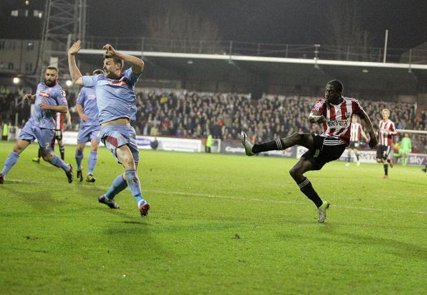 Wimbledon Guardian: Firing on all cylinders: Clayton Donaldson struck his 17th goal of the season on Saturday