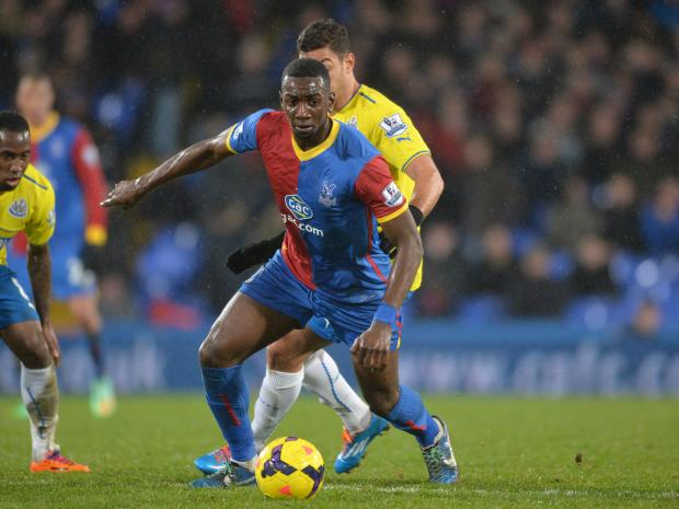 Wimbledon Guardian: Yannick Bolasie hit the bar for the Eagles. Picture by Keith Gillard.