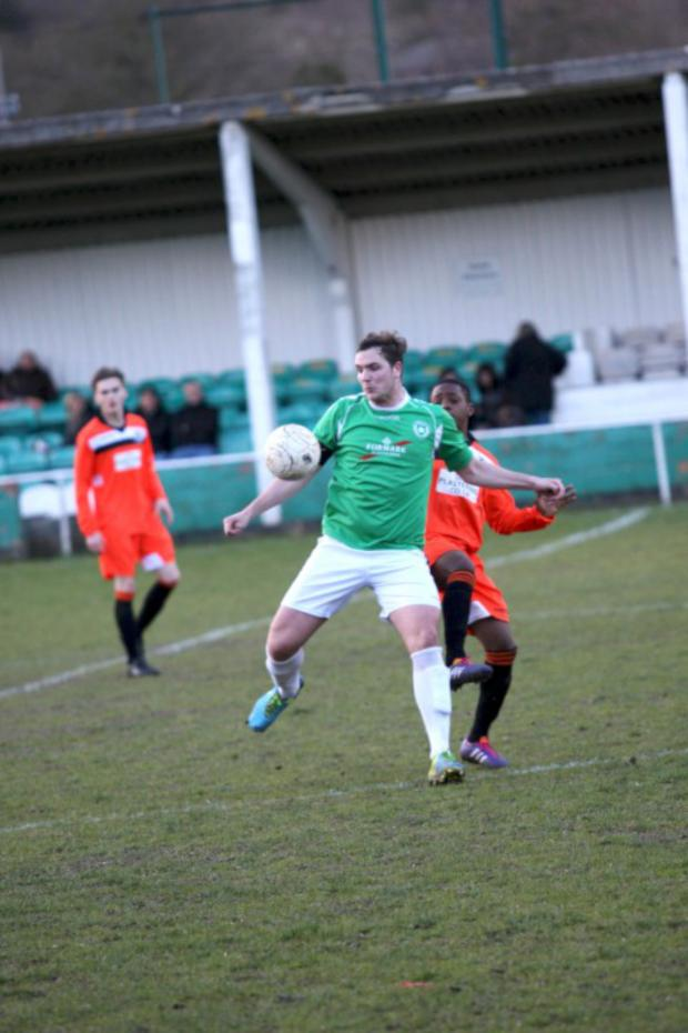 Wimbledon Guardian: Third and final: Jason Thompson hit Leafe's clincher in the 3-2 win at Greenwich Borough