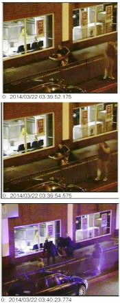 Stills from the CCTV - see below for the full video