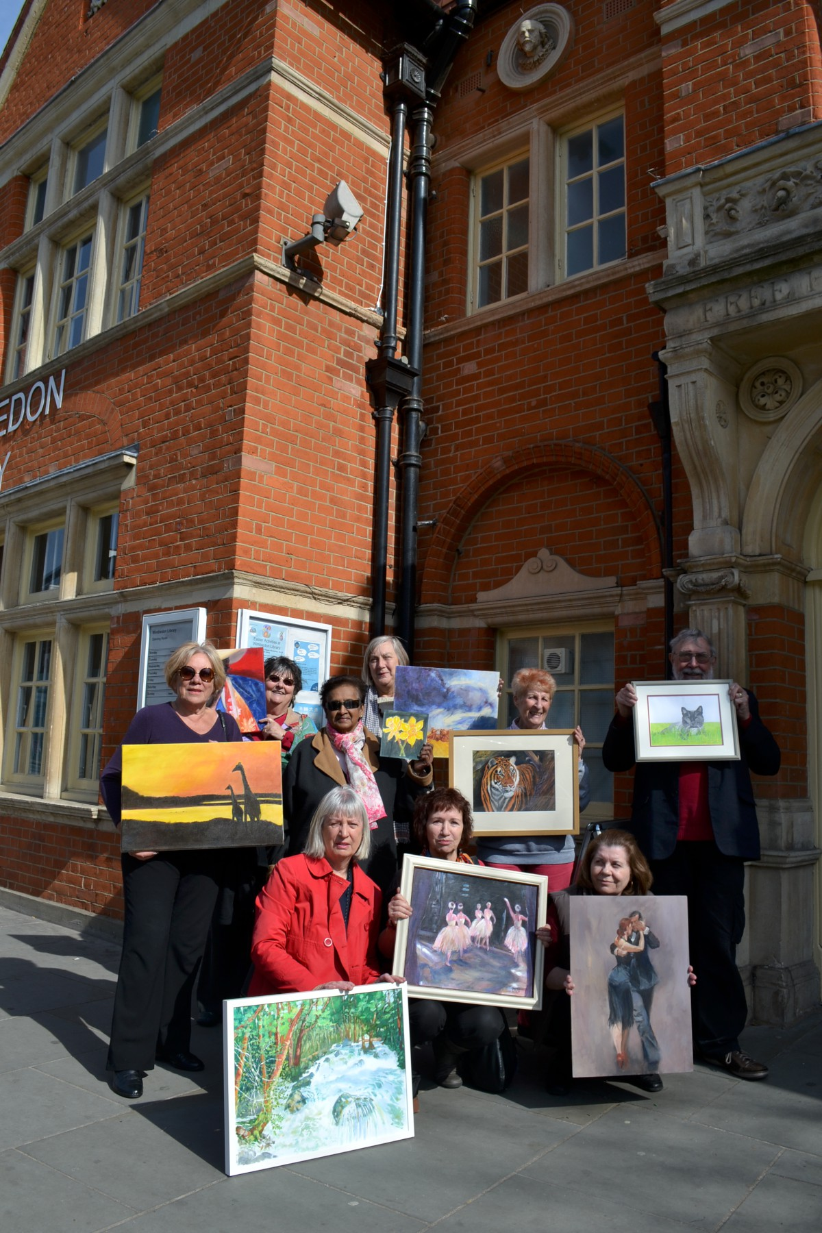 Angry artists protest loss of exhibition space at Wimbledon Library