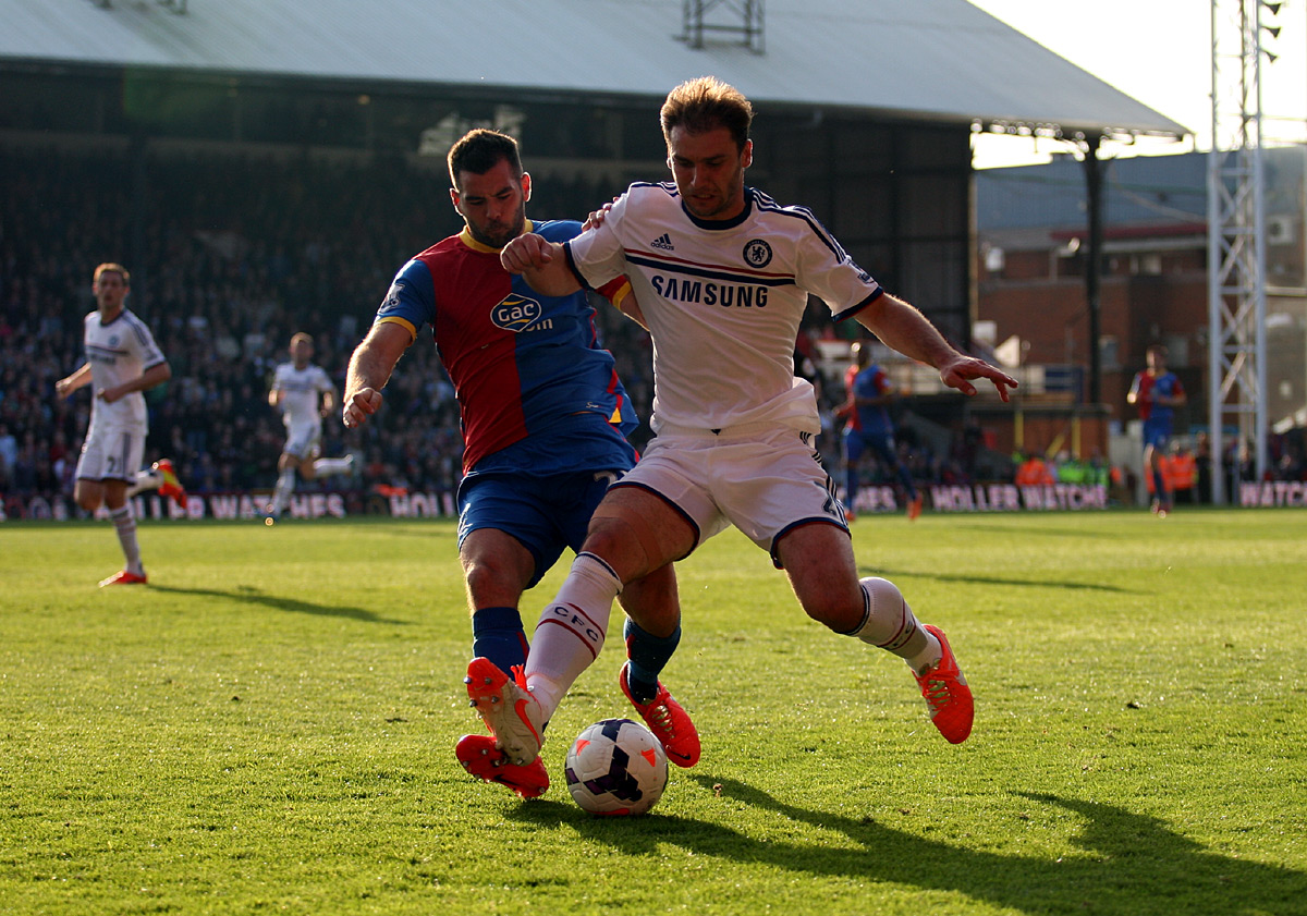 Wimbledon Guardian: Branislav Ivanovic holds off Joe Ledley