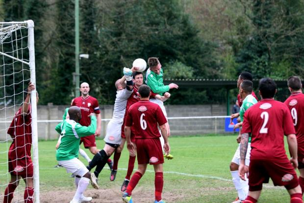 Goal: Dylan Merchant gets the Whyteleafe opener in Saturday's 3-1 win over Canterbury