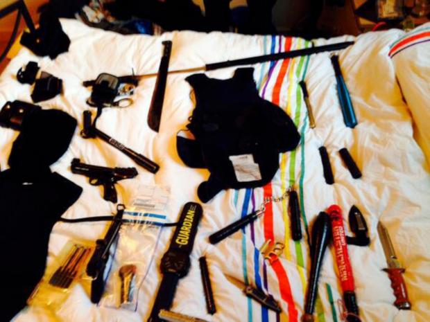 Seized: cache of dangerous weapons discovered by police