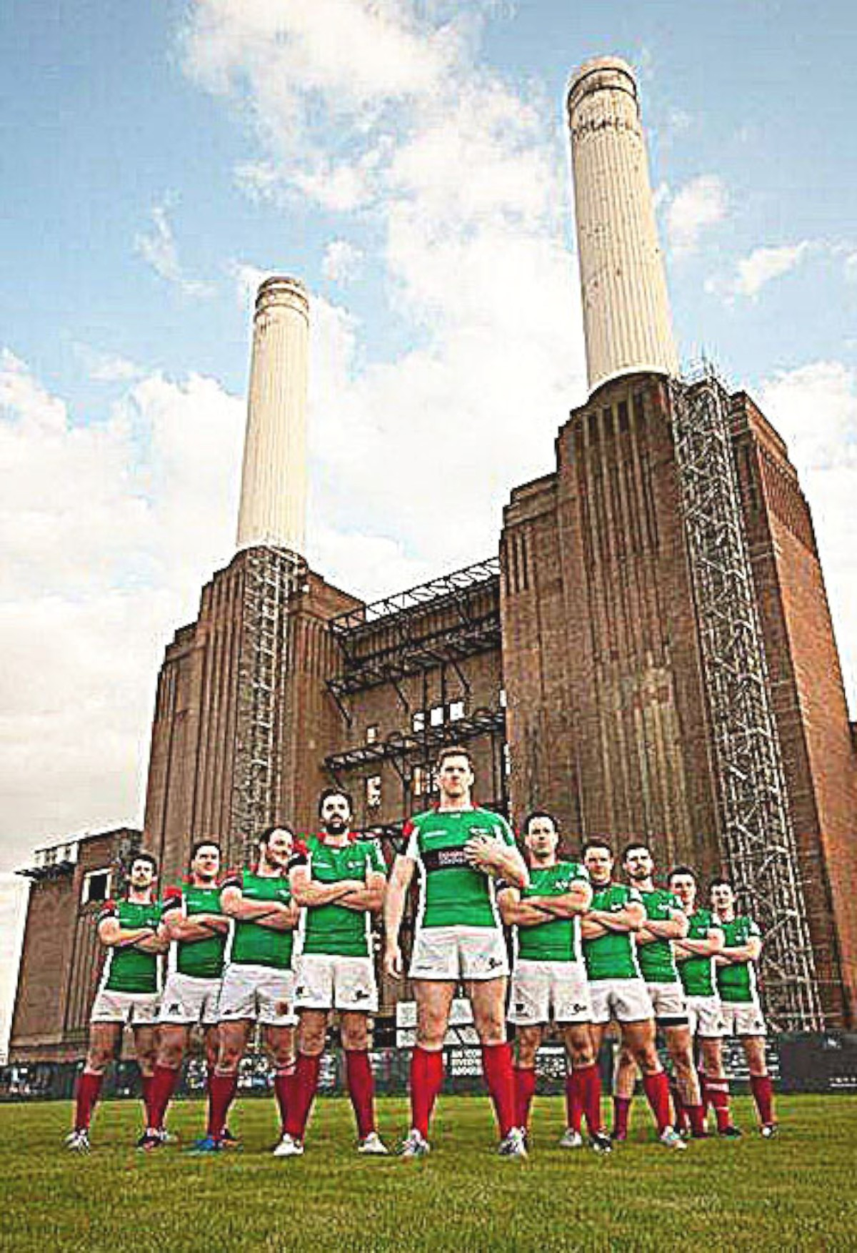 None shall pass: Colin O'Keeffe will lead his Battersea Ironsides out on Saturday hoping they can overcome the final hurdle and reach the national
