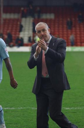 Delighted: Brentford boss Mark Warburton was a happy man at the final whistle