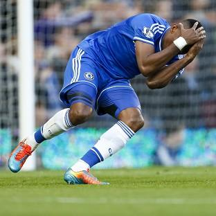 Samuel Eto'o reacts after a missed shot during the defeat to Sunderland
