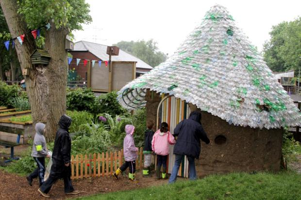 The eco house at Deen City Farm