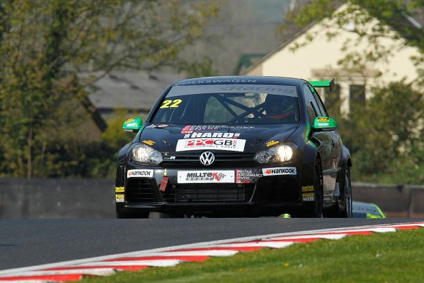 Bank Holiday blues: Howard Fuller failed to finish on his VW Cup debut 	Pictures: Gary Brind