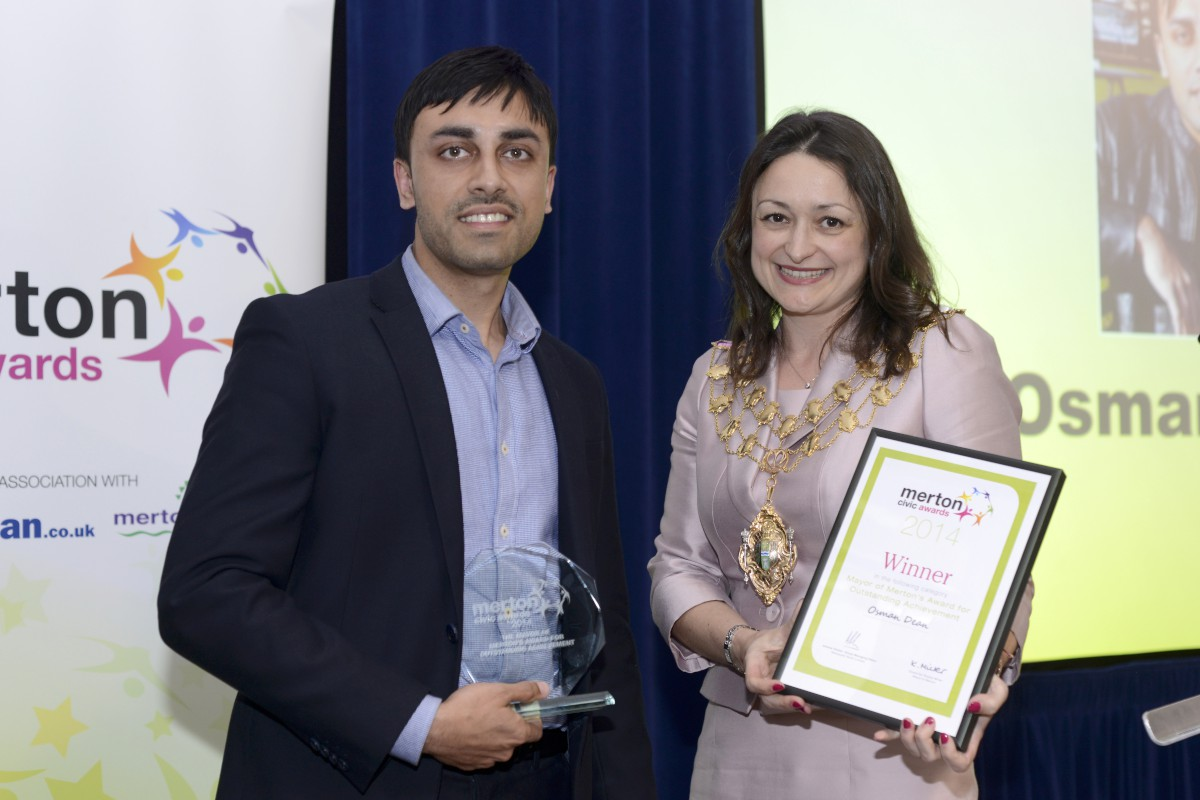 Man who jumped on train tracks to save woman among heroes honoured at Merton Civic Awards