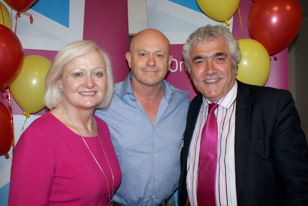 Supporter: Ross Kemp with Siobhain MacDonagh and Stephen Alambritis