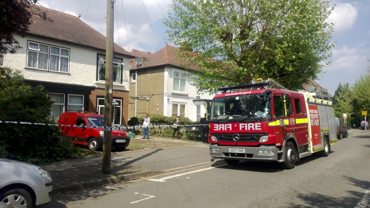 The blaze was inside the living room of a ground floor flat.