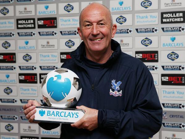 Tony Pulis guided Crystal Palace to four wins in five games in April.