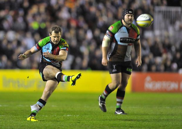 The force is with you: Quins fly half Nick Evans        Picture: Garry Bowden/Pinnacle