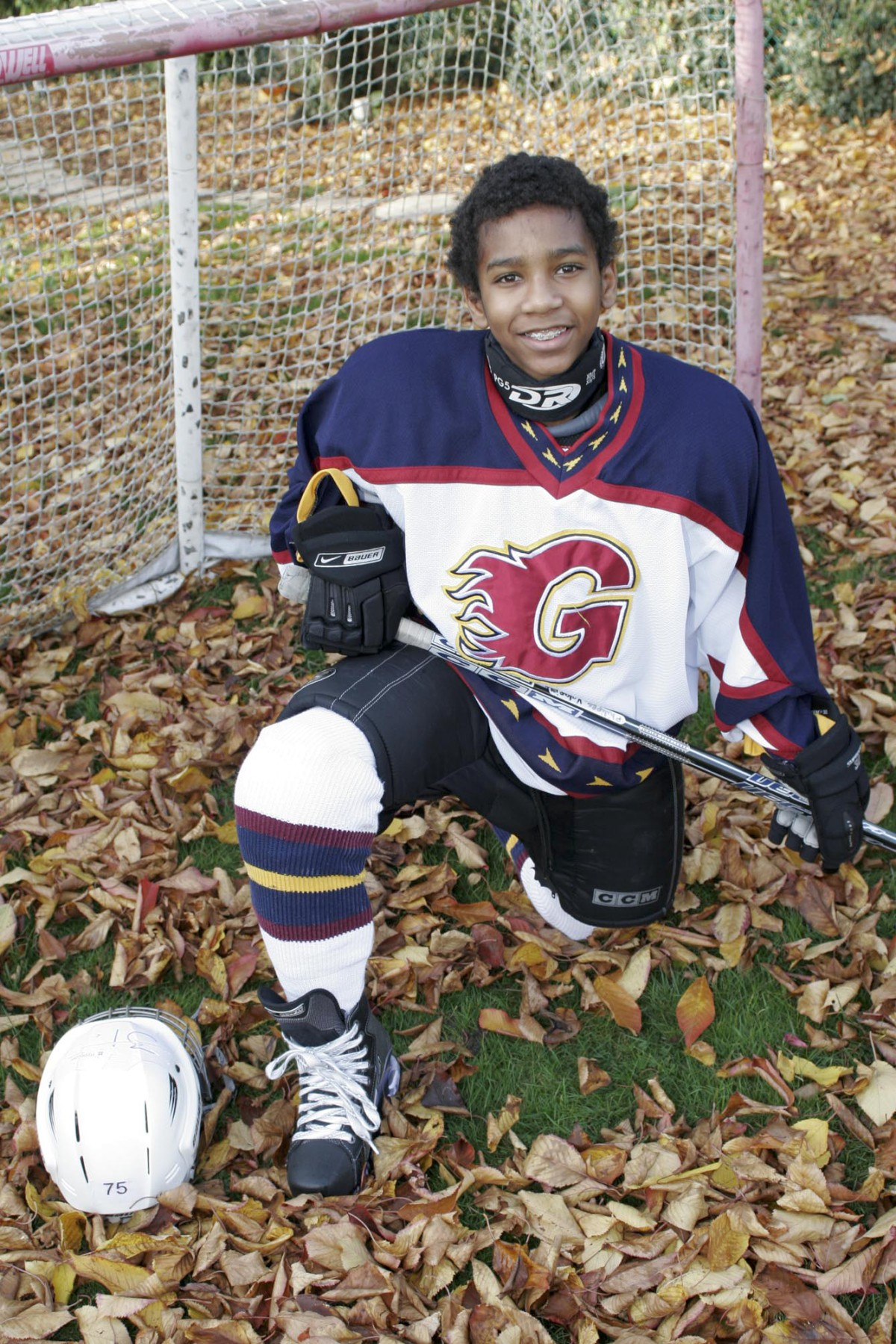 Talented ice hockey player: Philippe Valapinee aged 12