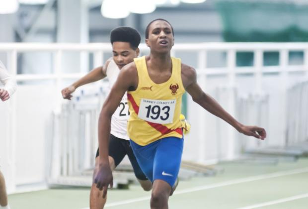 Record breaker: Chad Miller now holds the Hercules Wimbledon U15 club record over 300m
