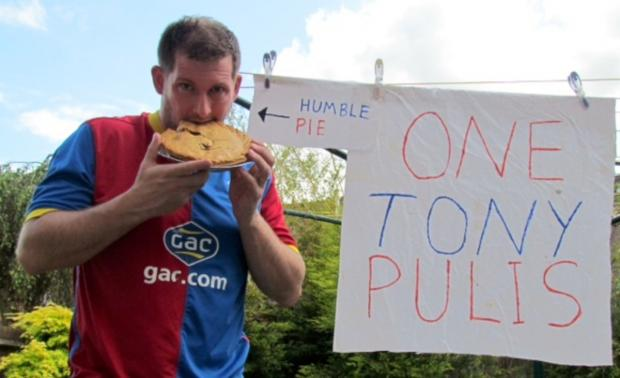 Dale Taylor eating humble pie. He ate the whole th