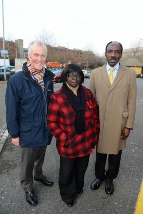 Councillor Agatha Akyigyina, centre, is inline to become the next mayor