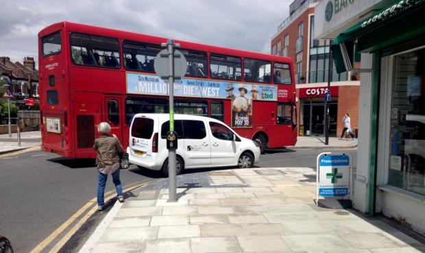 The CCTV van parked on the corner of Lambton Road and Worple Road in Raynes Park. Picture: Patrick Steel.