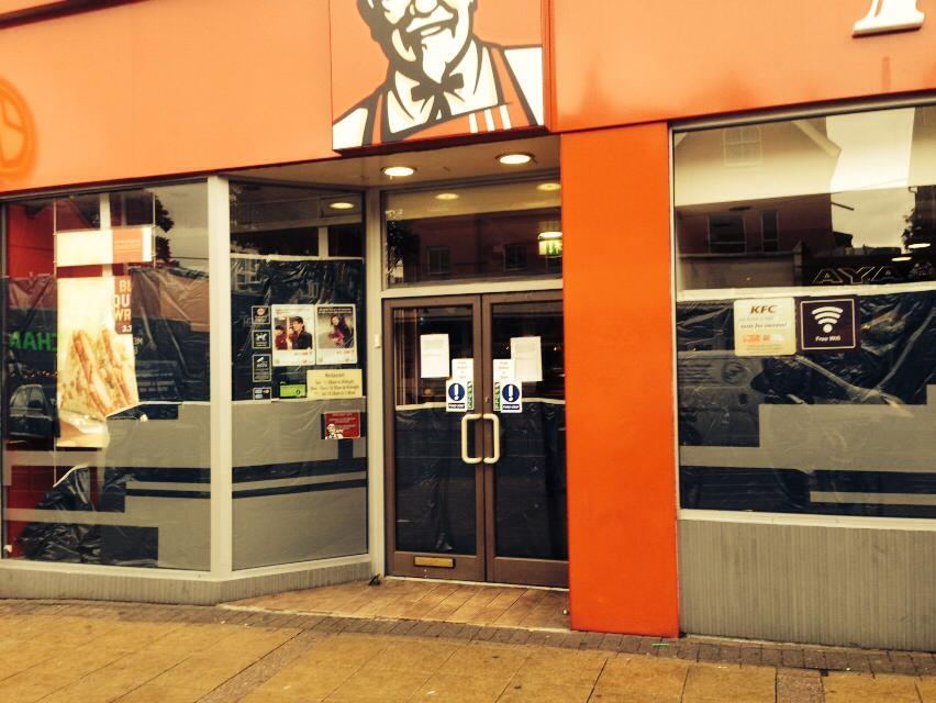 Closed: KFC in The Broadway