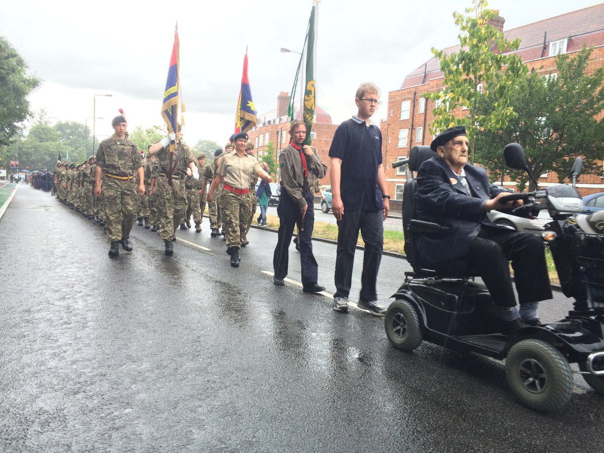 Hundreds line the streets to support Armed Forces Day parade