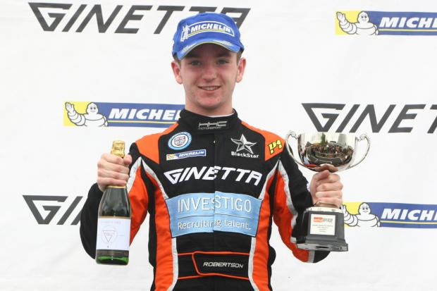 Wimbledon Guardian: Podium man: Charlie Robertson claimed two second place finishes at Croft last weekend