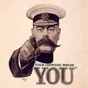 Lord Kitchener's call to arms.