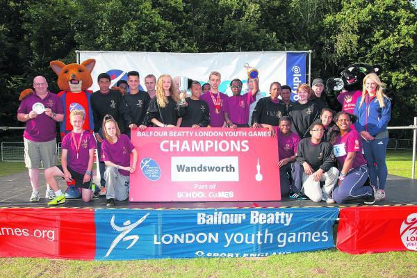 Winners: Wandsworth borough were triumphant at the Balfour Beatty London Youth Games