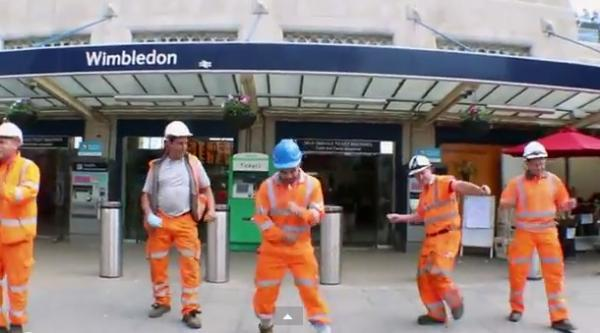 South West Trains workers bust some dances moves for 'Wimbledon is Happy' video