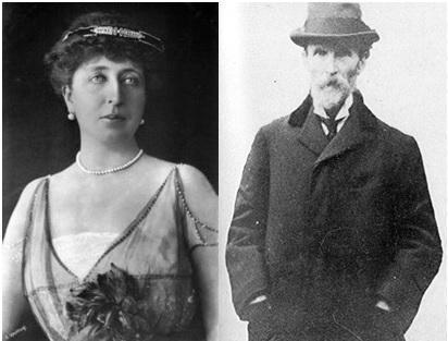 Left: Princess Henriette of Belgium, Duchess of Vendome  (1870-1948).  Right: Richardson Evans