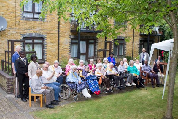 Residents of Trellis House pictured at a 20th anniversary event for the Trellis House extra care scheme in June.