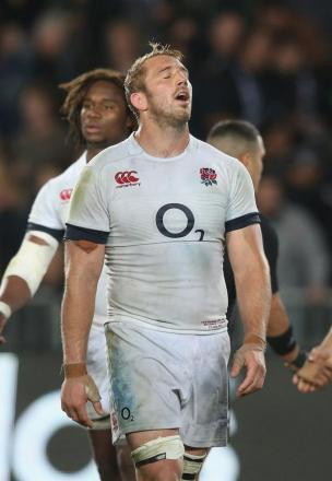 Pressure: Chris Robshaw has a