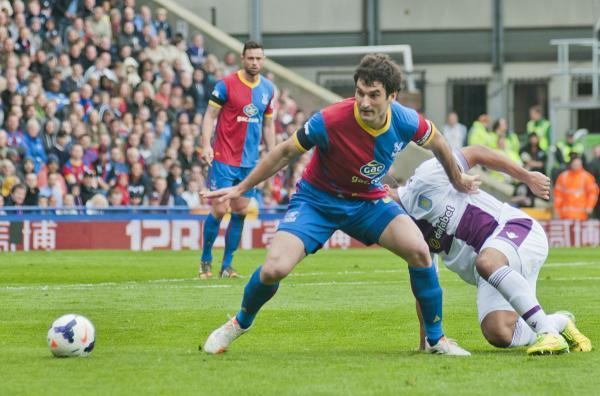 Battler: Crystal Palace skipper Mile Jedinak in typical combative pose               SP81982