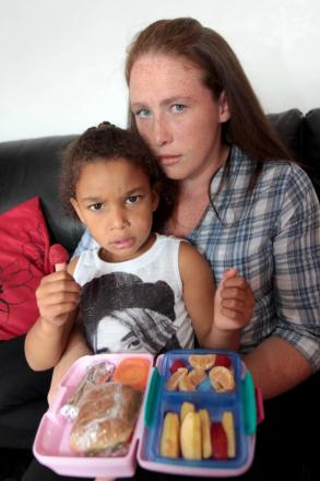 It all started with a chicken sandwich: Mum Yasmin Jackson with 'starved' daughter Amari, 5.