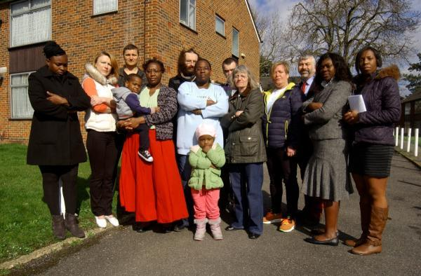 Out on the streets: Raynesfield residents will be evicted by the end of the year.