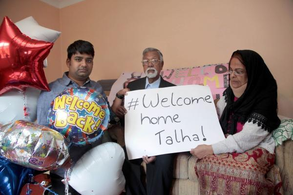 Hamja, dad Syed Abu and mum Farida Ahsan speaking from the family home in Mitcham
