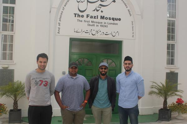 Members of the Ahmadiyya Youth Community at the London Mosque in Southfields