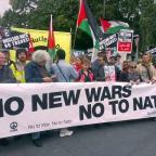 Wimbledon Guardian: No to Nato protesters march in Newport, south Wales
